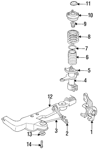 SUSPENSION COMPONENTS for 1997 Dodge Intrepid