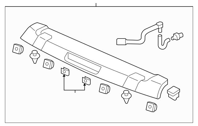 2009-2012 Honda PILOT 5-DOOR Garn Assembly *b552p* 74900