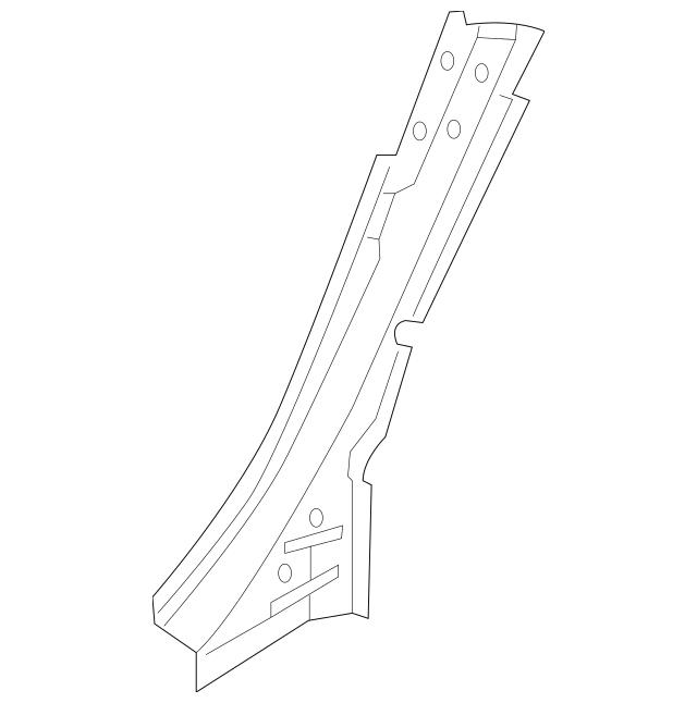 2016-2018 Audi A3 Sportback e-tron Lock Pillar 8V4-809-264