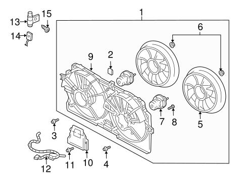 OEM 2000 Chevrolet Impala Cooling Fan Parts
