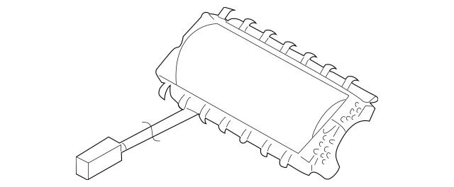 2008-2014 Subaru Impreza Passenger Inflator Module