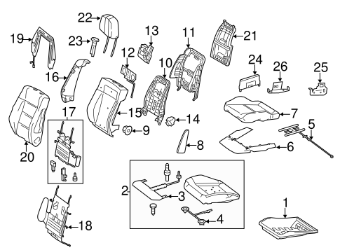Front Seat Components for 2011 Mercedes-Benz E350