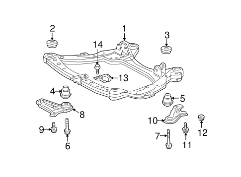 Genuine OEM Suspension Mounting Parts for 2009 Toyota