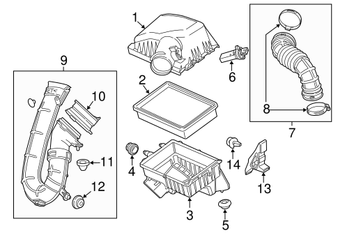 AIR INTAKE Parts for 2013 Chevrolet Sonic
