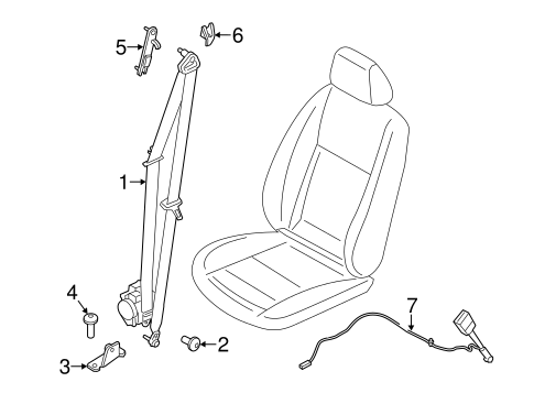 FRONT SEAT BELTS for 2014 Ford Transit Connect
