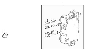 Honda Box Assembly, Passenger Fuse (38210-TA0-A32) For