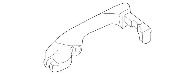 2005-2008 Acura RL SEDAN Handle, R Rear *B92P* (Nighthawk