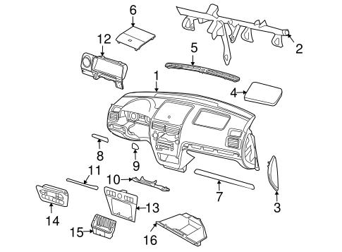 Ford Fusion/Mercury Milan/Lincoln Mkz Dashboard Air Vent