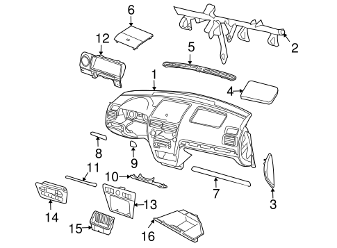 OEM 2008 Lincoln MKZ Instrument Panel Parts