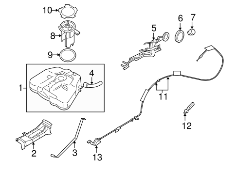 Fuel System Components for 2008 Nissan Altima