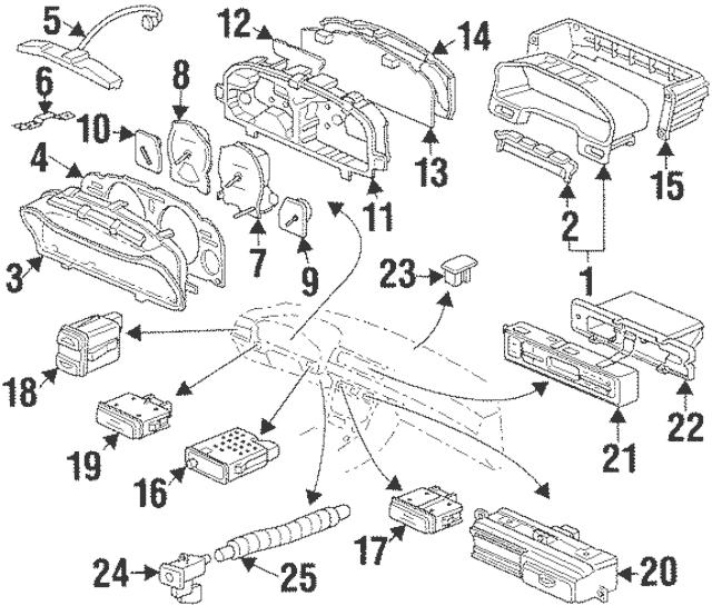 1997-1999 Acura CL COUPE Controller, Illumination 35150