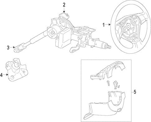 Genuine OEM Steering Column Parts For 2011 Mazda 2 Touring