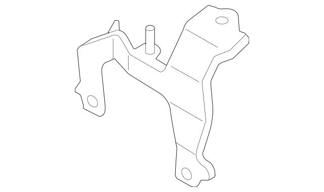 OEM NEW 2006-13 Mazda 3 CX7 Mount Inter-Cooler Bracket W
