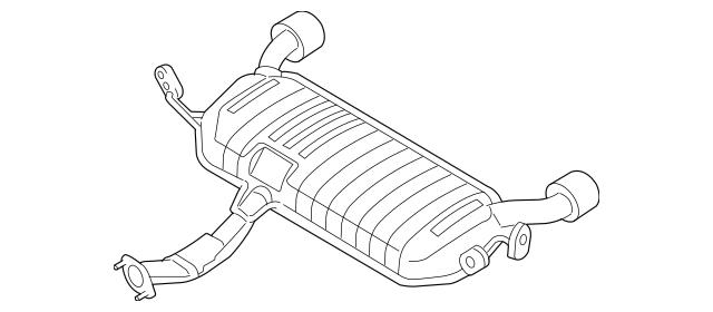 OEM NEW Genuine Kia Muffler Assembly Main 2005-2010