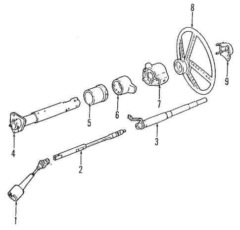 Steering Column for 1997 Chevrolet K1500 Pickup