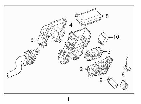 OEM 2014 Chevrolet Impala Fuse & Relay Parts