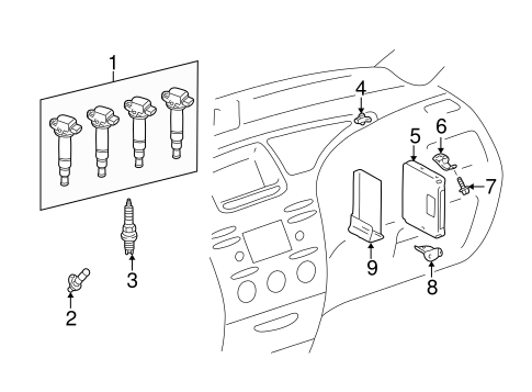 Genuine OEM Powertrain Control Parts for 2001 Toyota Prius