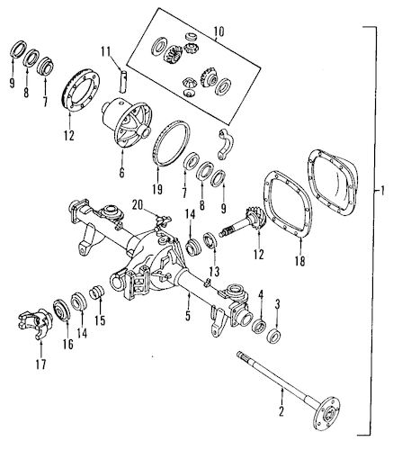 Differential for 1995 Chevrolet Camaro