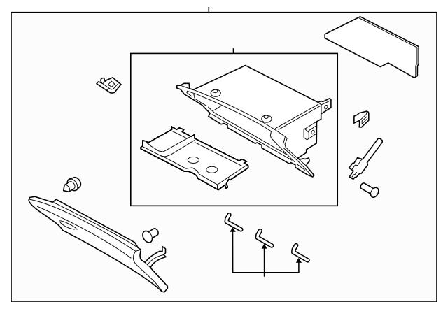 2015 Lincoln MKZ Glove Box Assembly DP5Z-54060T10-AK