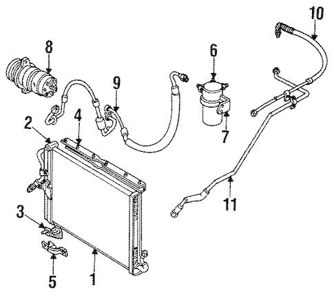 OEM 1986 Oldsmobile Cutlass Ciera Condenser, Compressor