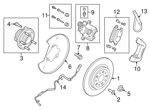 Rear Brakes for 2015 Ford Taurus