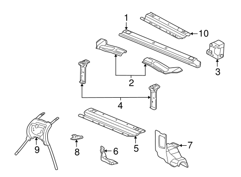 RADIATOR SUPPORT for 2000 Cadillac Seville