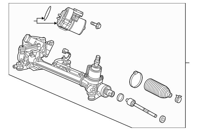 Discount Genuine OEM Honda Rack Assembly, Power Steering