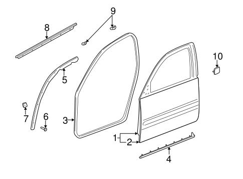 OEM 2001 Buick LeSabre Door & Components Parts