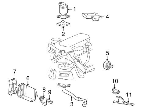 EGR SYSTEM Parts for 1998 Chevrolet Malibu