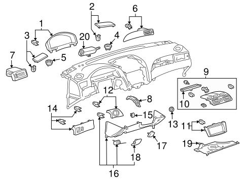 Genuine OEM Gauges Parts for 2005 Toyota Solara SLE