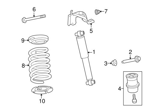 SHOCKS & COMPONENTS for 2008 Ford Fusion