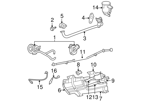 Emission System for 2007 Chrysler Pacifica