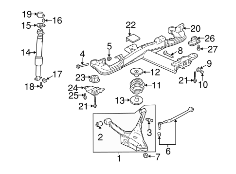 OEM 2000 Buick LeSabre Rear Suspension Parts