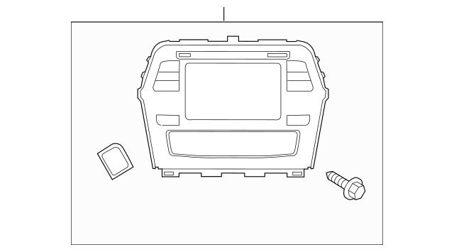 2016-2018 Nissan Maxima Display System 25915-4RA1B