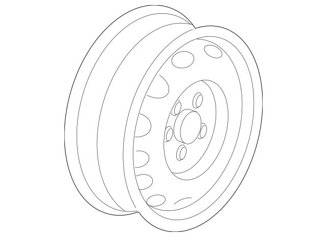 2007-2017 Volkswagen Jetta Wheel, Steel 5K0-601-027-A-03C