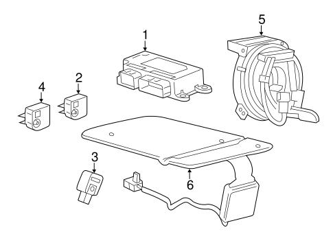 Air Bag Components for 2018 Chevrolet Equinox