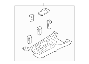 2014-2015 Kia Sorento Upper Panel 84650-1U510BB8