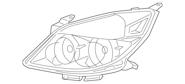 2007-2009 Saturn Aura Composite Headlamp 25854633