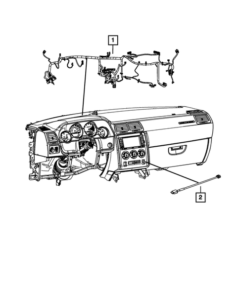 Wiring-Instrument Panel for 2013 Dodge Challenger