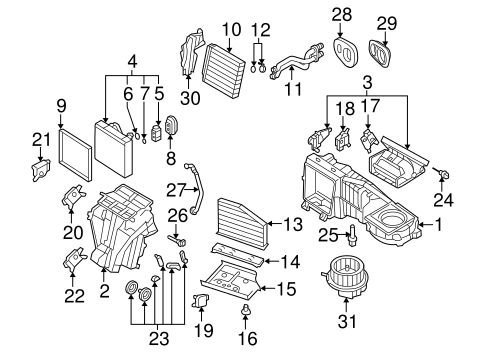Evaporator & Heater Components for 2013 Volkswagen Tiguan