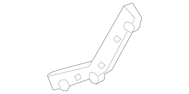 Genuine 2007-2015 Mazda CX-9 Right Rear Outer Bumper Brace
