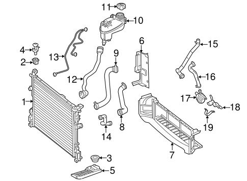 Radiator & Components for 2014 Mercedes-Benz CLA 250