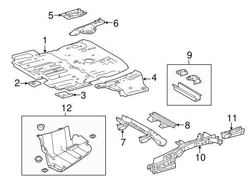Genuine OEM Rear Floor & Rails Parts for 2016 Toyota