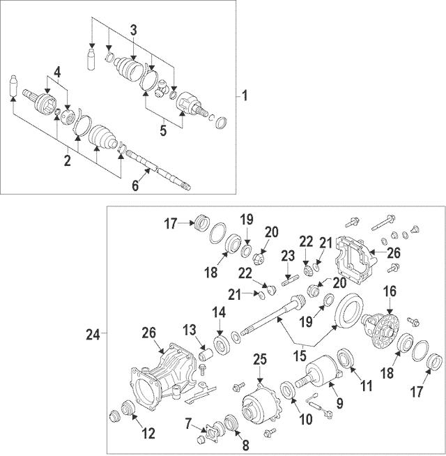 2012-2014 Nissan Murano Coupling Assembly 38761-JP20B