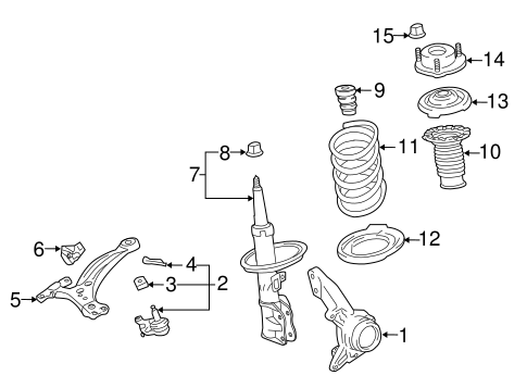Genuine OEM SUSPENSION COMPONENTS Parts for 2015 Toyota