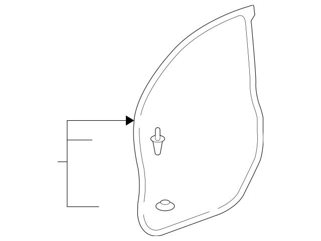 Original Seal, L Front Door Opening *NH167L* (Graphite