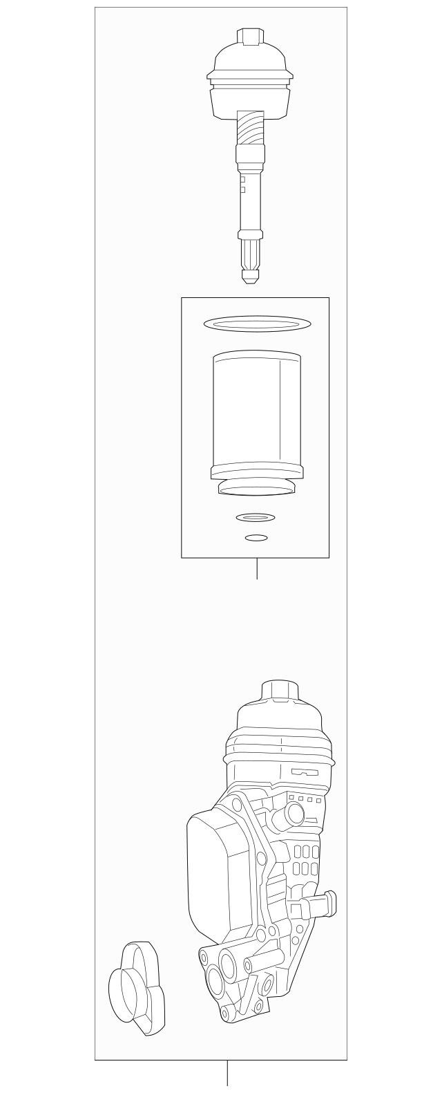 2014-2019 Mercedes-Benz Oil Filter Housing 133-180-02-10