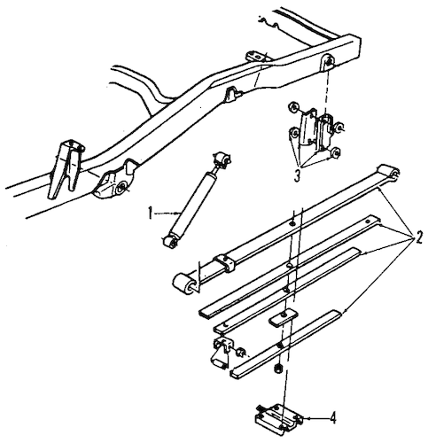 REAR SUSPENSION Parts for 2007 Hummer H3