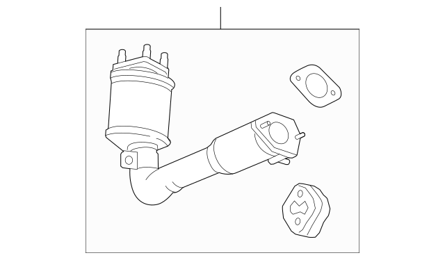 Genuine Chevrolet Captiva Sport Catalytic Converter 25970315