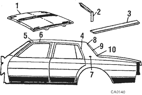 Roof & Components for 1989 Chevrolet Caprice